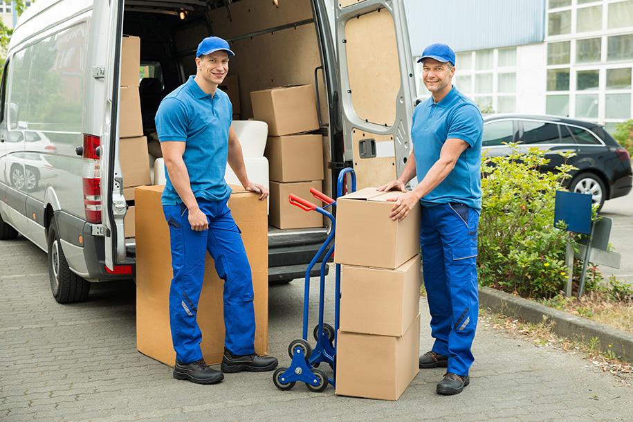 Ultra Umzüge – Zwei Möbelpacker beim Umziehen